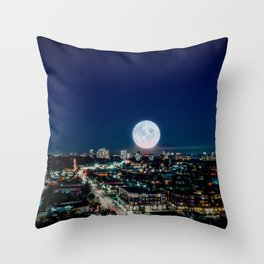 Moonlight over Burnaby Throw Pillow