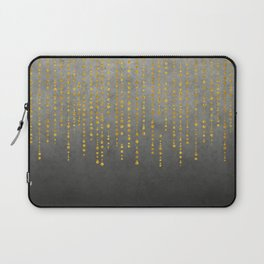 Dark Glamour golden faux glitter Laptop Sleeve