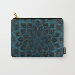 Mandala Blue Denim Carry-All Pouch