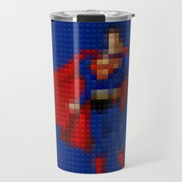 Man of Steel - Toy Building Bricks Travel Mug