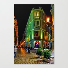 Night Walk - Malaga Canvas Print