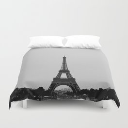 Eiffel Tower from afar Duvet Cover