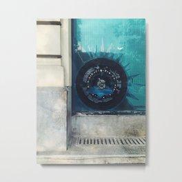 Blue Map Metal Print