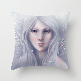 Snow Sprite Throw Pillow
