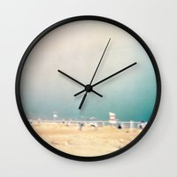 israel Wall Clocks featuring Ein Gedi Beach, Israel by LittleConquerors