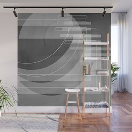 Stairs Heavenward in Shades of Charcoal Gray Wall Mural