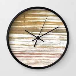 Light taupe abstract watercolor Wall Clock