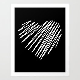 White Heart Art Print