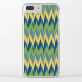 Bright Ikat Chevron Clear iPhone Case