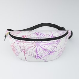Hand painted pink lilac watercolor floral mandala Fanny Pack