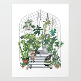 greenhouse illustration Art Print