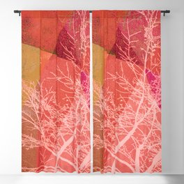 P19-C3 TREES AND TRIANGLES Blackout Curtain