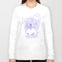 edgar allan poe Long Sleeve T-shirts featuring Edgar Allan Poe Gothic by Scott Jackson Monsterman Graphic