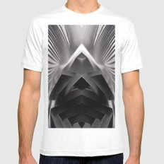 Paper Sculpture #7 White Mens Fitted Tee MEDIUM