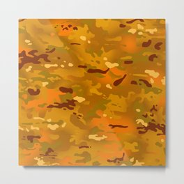 Camouflage: Hunting Orange Metal Print