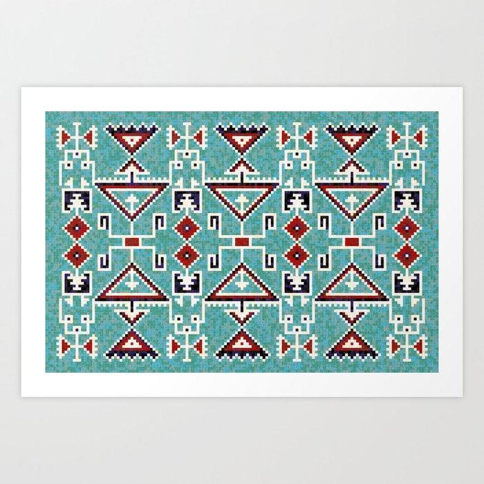Native American Indians Navajo Pattern Kunstdrucke
