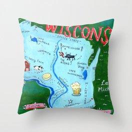 WISCONSIN Throw Pillow