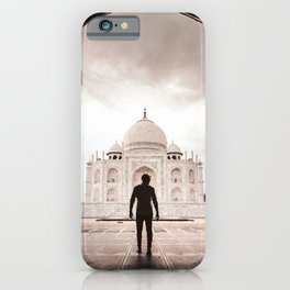 tourist at taj mahal iPhone Case