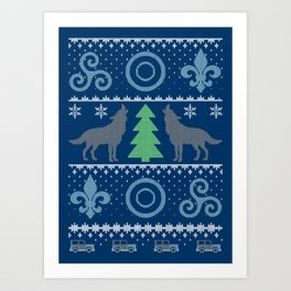 Teen Wolf Holiday Sweater Art Print
