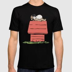 PUG HOUSE Black LARGE Mens Fitted Tee