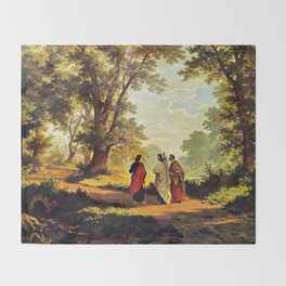 Road To Emmaus Throw Blanket