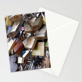 Padlocks of love Stationery Cards