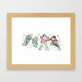 Kids in the Grass Framed Art Print