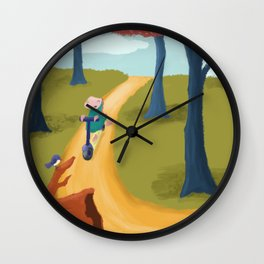 Forrest ride Wall Clock