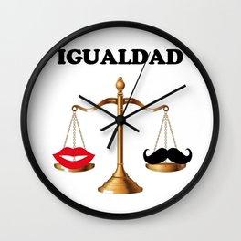 Igualdad Wall Clock