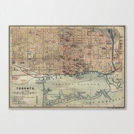 Vintage Map of Toronto (1894) Canvas Print