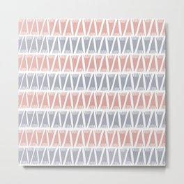 Tee Pee Pastel Metal Print