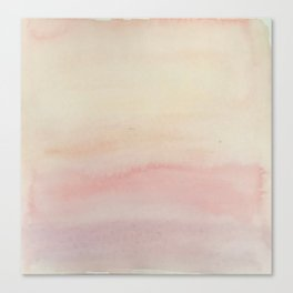 Ombre Blush Pink Watercolor Hand-Painted Effect Canvas Print