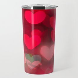 red love background of the hearts on Valentine's day Travel Mug