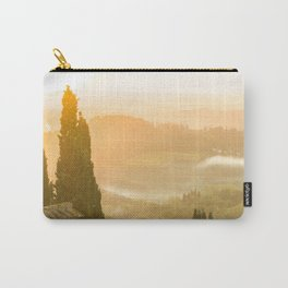 Italian Country // A Modern Artsy Style Graphic Photography of Farm Land Vineyards Washed out Sunset Carry-All Pouch