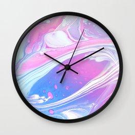 Ankaa II - Abstract Costellation Painting - Pastel Foam. Wall Clock
