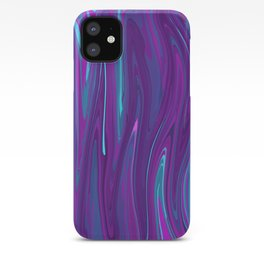 Pink, Purple, and Blue Waves 2 iPhone Case