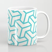 diamond Mugs featuring Diamond by Marta Li