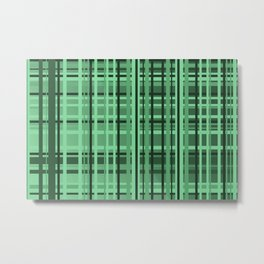 checkered Design green Metal Print
