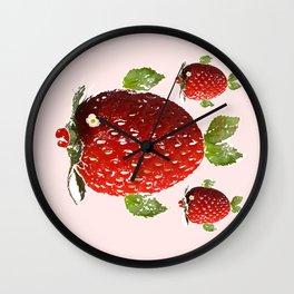 Strawberry Fish Fantasy Wall Clock