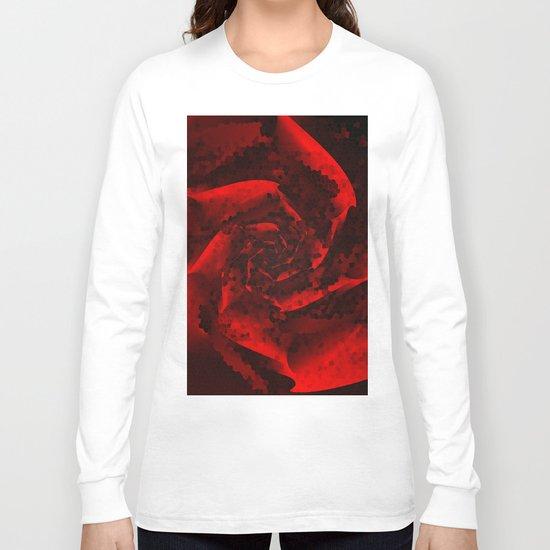 Red Rose Mosaic Long Sleeve T-shirt