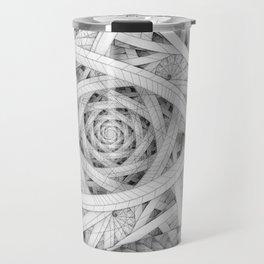 GET LOST - Black and White Spiral Travel Mug