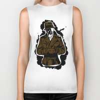 watchmen Biker Tanks featuring  Rorschach (Watchmen) by  Steve Wade ( Swade)