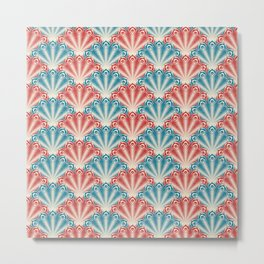 Colorful Abstract Peacock Feather Pattern Metal Print