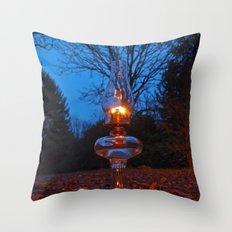 Classic oil lamp Throw Pillow
