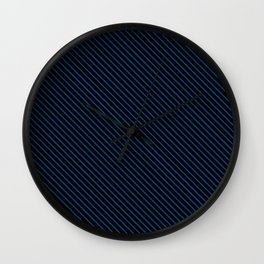 Lapis Blue and Black Stripe Wall Clock