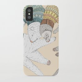 Ferret Sleep Love iPhone Case