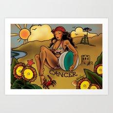 Tattoo Cancer Art Print