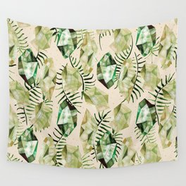 Emerald Gems Wall Tapestry