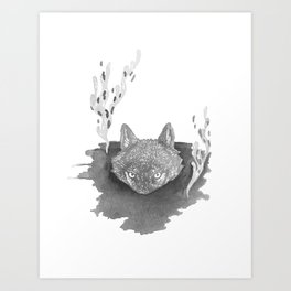 Wolf Baptism Art Print