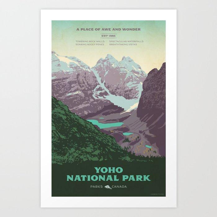 Yoho National Park Poster Art Print